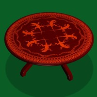 coffee table lizard fr 3d model