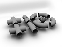 pipe oil gas 3d model