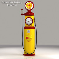 Tokheim-850 Shell Gas Pump