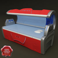 tanning bed lumina 3d model