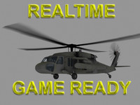 UH-60 Blackhawk US Army Transport Helicopter Game Ready model