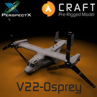 3d pre-rigged osprey craft director model