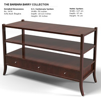 baker sofa back etagere barbara barry 3476 console
