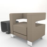 modern style armchair 3d model