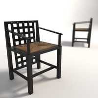 Charles Rennie Mackintosh DS3 dining armchair