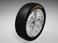 car rim tire 3d model