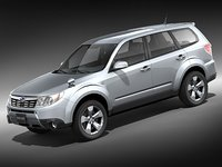 subaru forester suv midpoly 3d model
