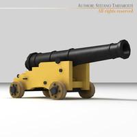 3d ship gun model