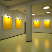 3d model gallery interior