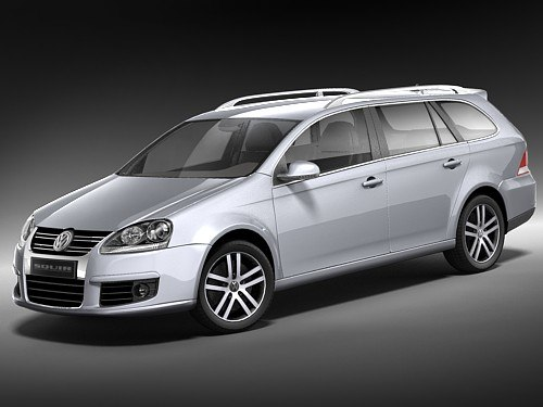 volkswagen golf variant v 3d model. Black Bedroom Furniture Sets. Home Design Ideas