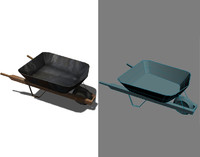 Wheelbarrow Low Poly