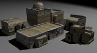 nextgen african houses 3d model