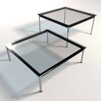 Le Corbusier LC10 Dining & Coffee Tables 140x140
