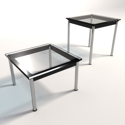 Le corbusier lc10 dining 3d model for Coffee table 70 x 40