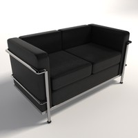 Le Corbusier LC2 Two-Seater sofa
