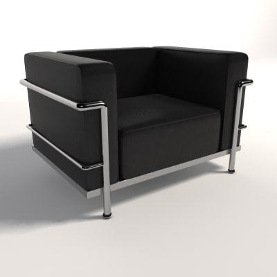 maya le corbusier lc3 armchair. Black Bedroom Furniture Sets. Home Design Ideas