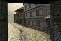 medieval building 3d model