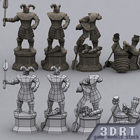 statues pack dungeon 0 3d model
