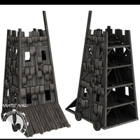 castle siege tower 3d model