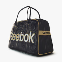 reebok logo sport bag 3d model