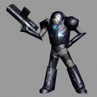 rigged space soldier 3d 3ds