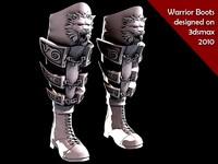 warrior boots 3d model