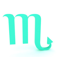 zodiac scorpio 3d model