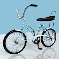 blue bicycle 3d model
