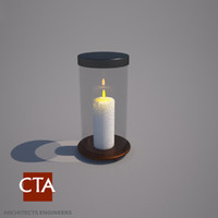 decorative candle holder 3d model
