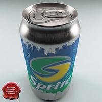 drink sprite 0 33l 3d model
