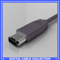 firewire ieee 1394 connector 3d model