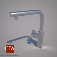 stainless steel faucet 3d model