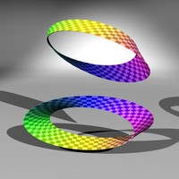 moebius mobius strip 3d model