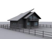 mountain chalet 3d model