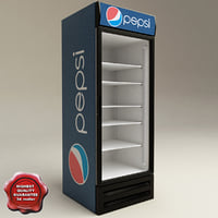 refrigerator pepsi 3d model