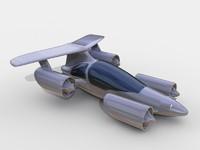 sky car 3d model