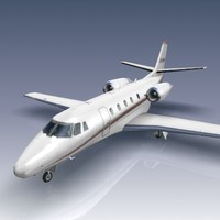 modeled citation xls aircraft 3d model