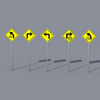 traffic sign pack 3d max