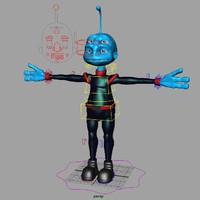 alien agent 3d model