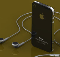 3D iPhone 4S + Earbuds in SolidWorks