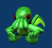 cthulhu doll 3d model
