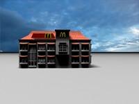 mcdonalds khobar saudi 3d model