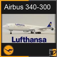 airbus lufthansa 3d model