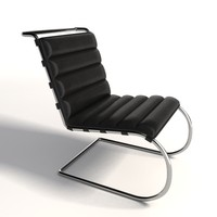 Mies Van Der Rohe MR Lounge Armless Chair