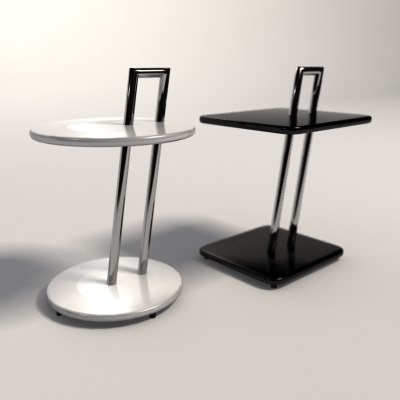 eileen gray occasional tables 3d model. Black Bedroom Furniture Sets. Home Design Ideas