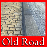 realistic old road 3d model