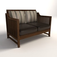 Frank Lloyd Wright Oak Park Loveseat