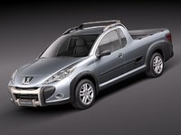 peugeot hoggar 2011 pickup 3d model