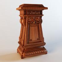 pedestal 3d model