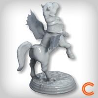 pegasus statuette 3d model